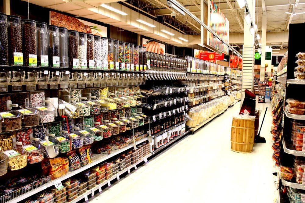Vrac dans un supermarché