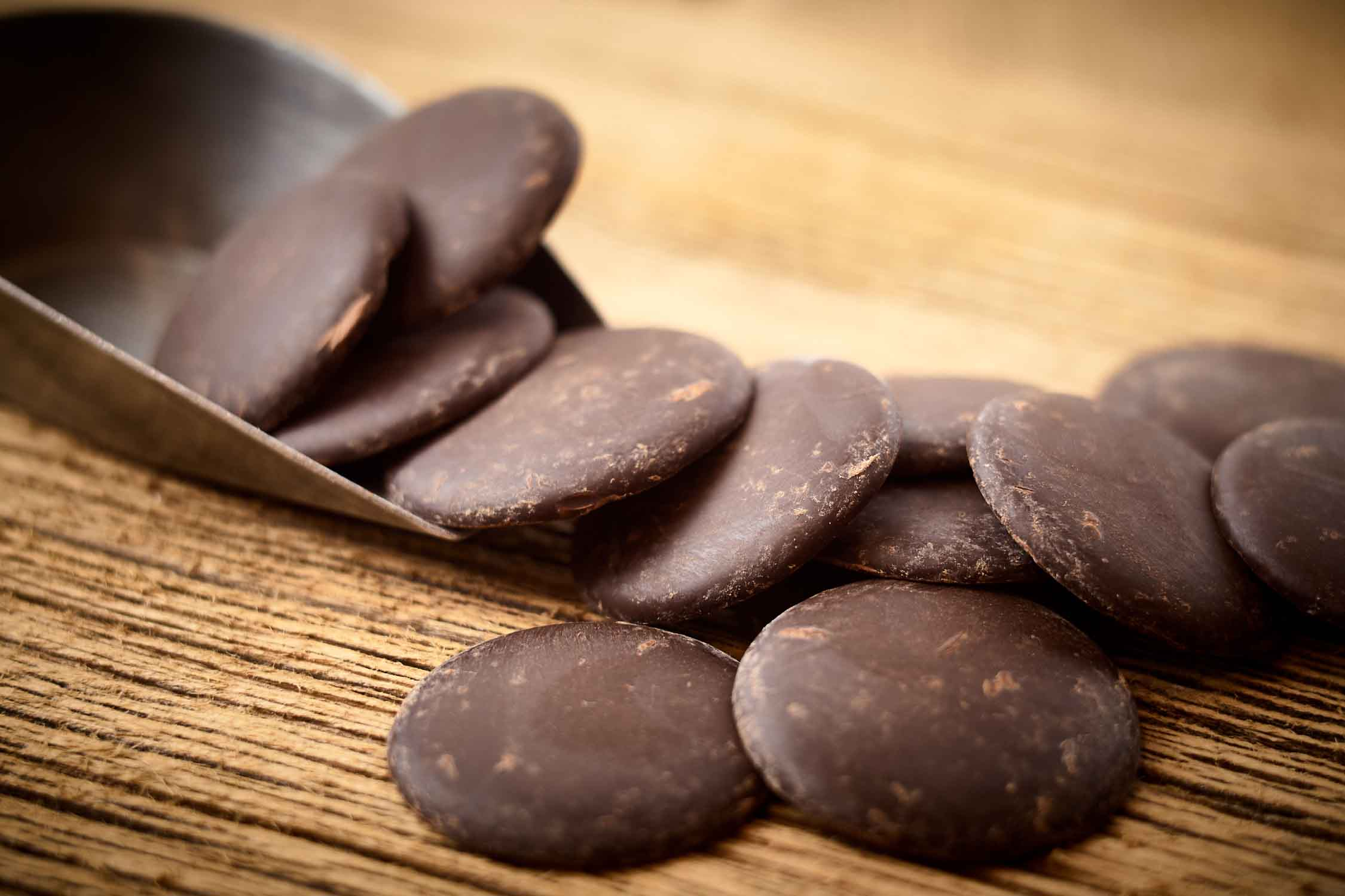 Pastilles de chocolat noir