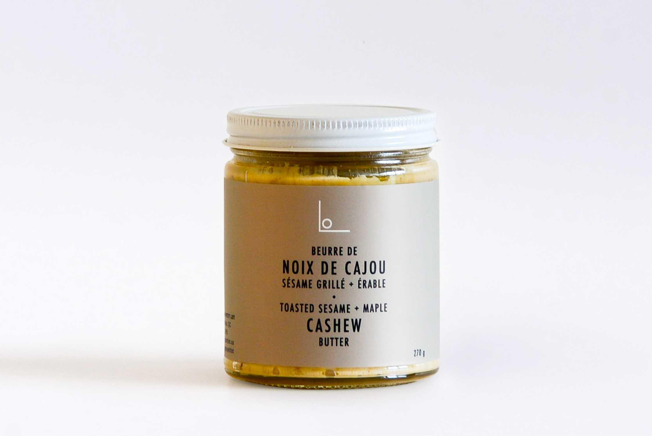 Beurre de noix de cajou sésame grillé et érable
