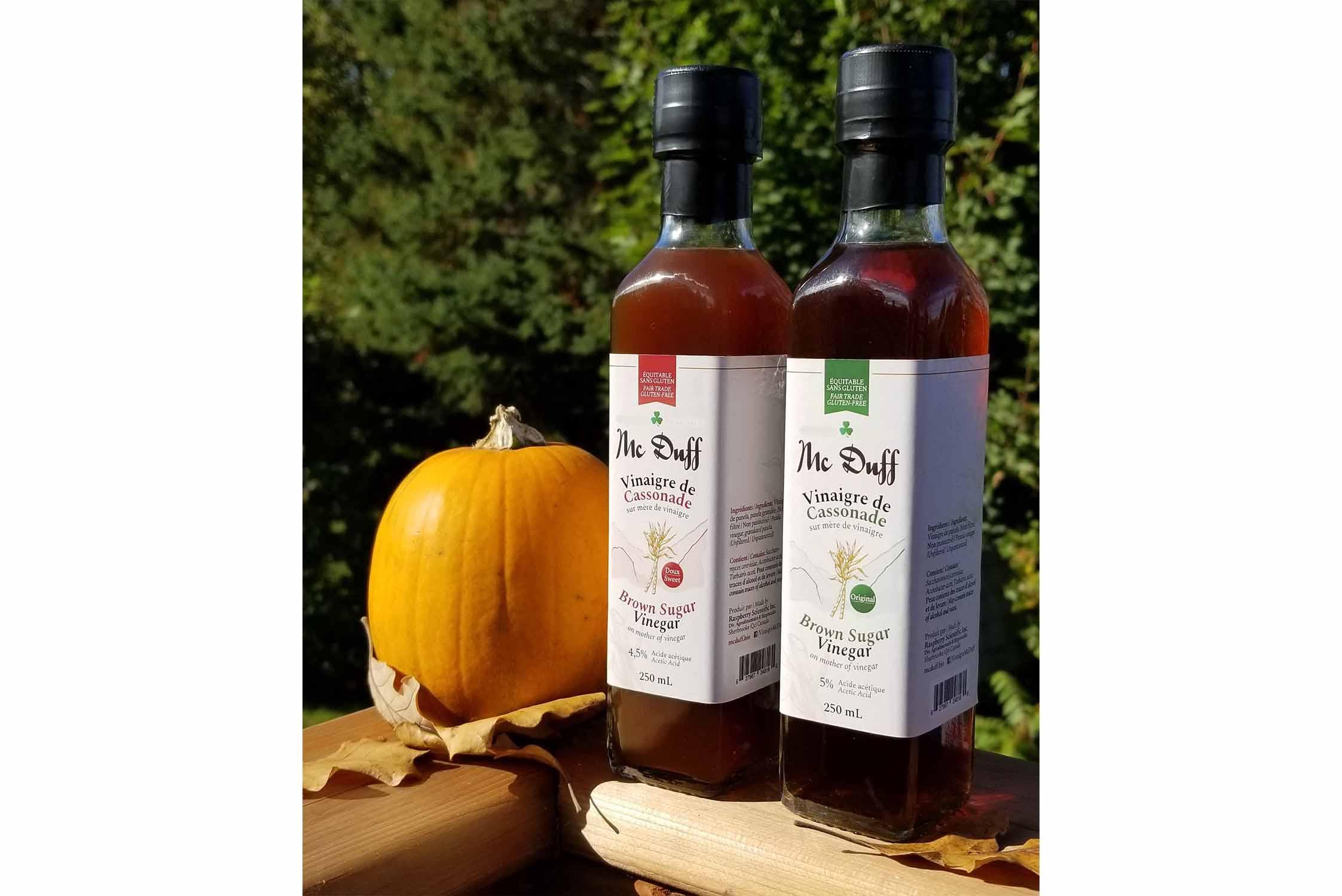 Vinaigres de sucre de canne original et doux de la Vinaigrerie Artisanale Mc Duff