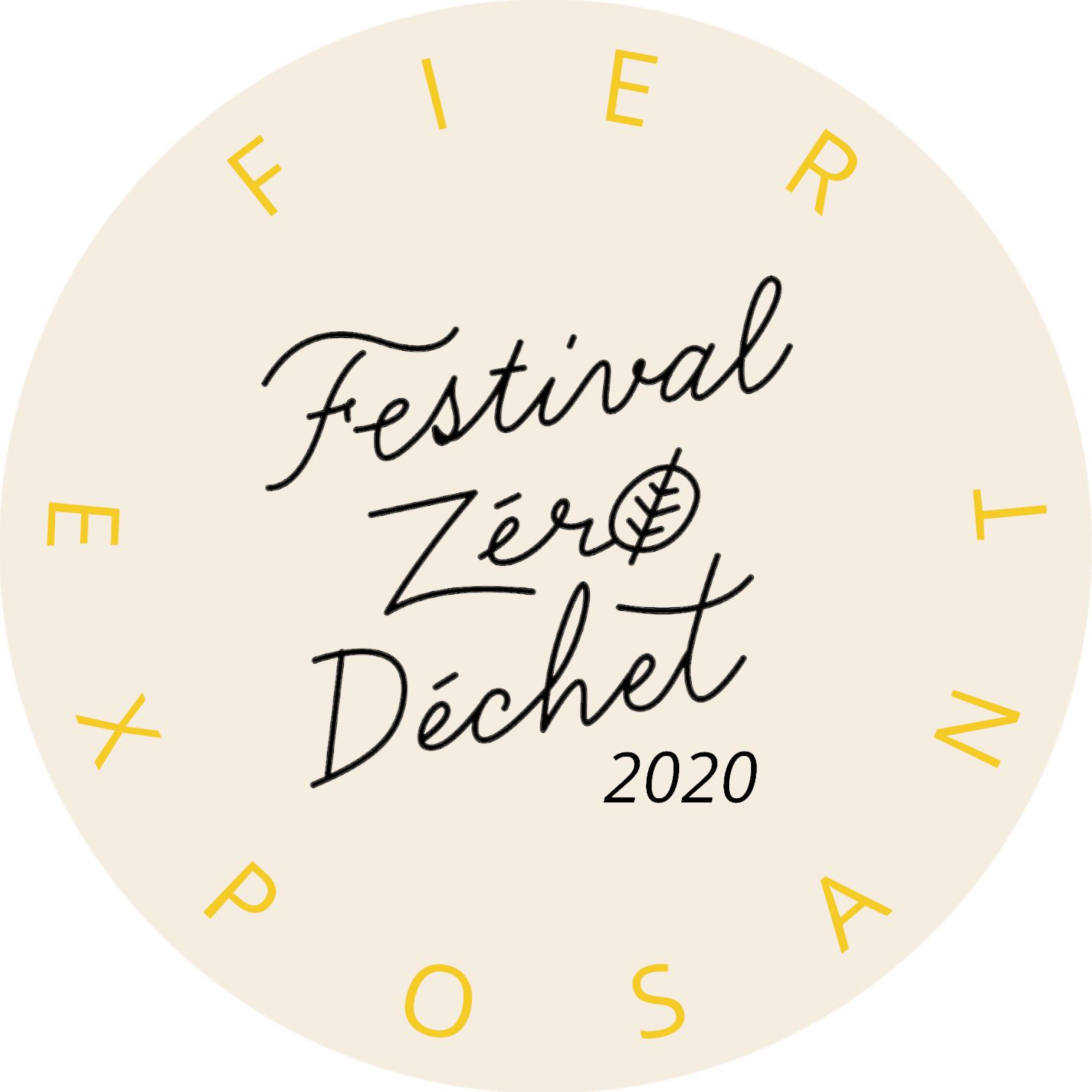 Festival Zéro Déchet 2020, fier exposant.